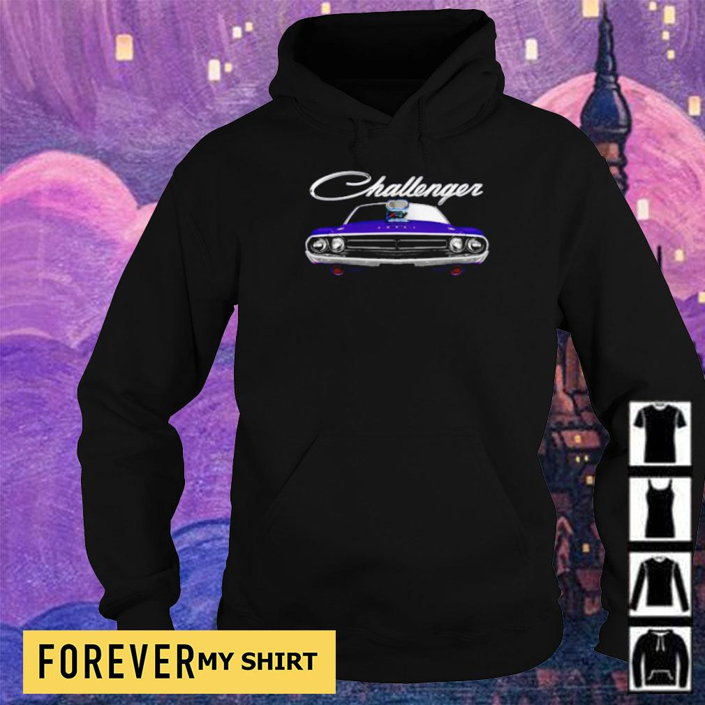 1971 Dodge Challenger two sided plum crazy blower s hoodie