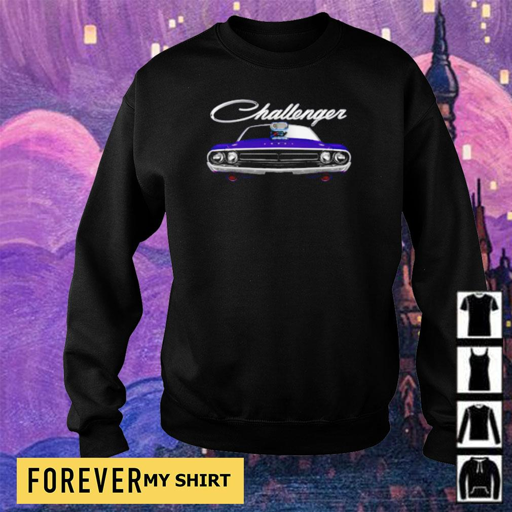 1971 Dodge Challenger two sided plum crazy blower s sweater