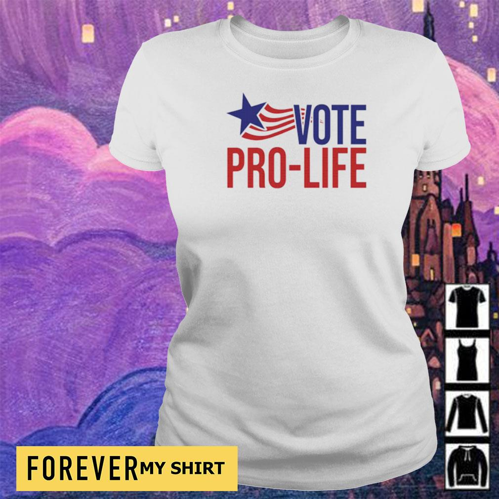 Ameican Flag vote pro life s ladies