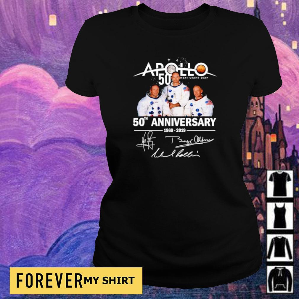 Apollo 11 50th anniversary signatures s ladies tee