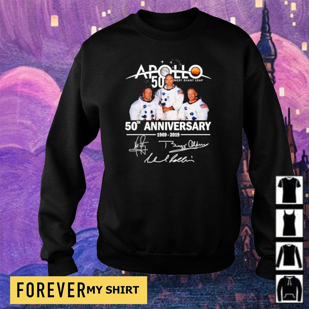 Apollo 11 50th anniversary signatures s sweater