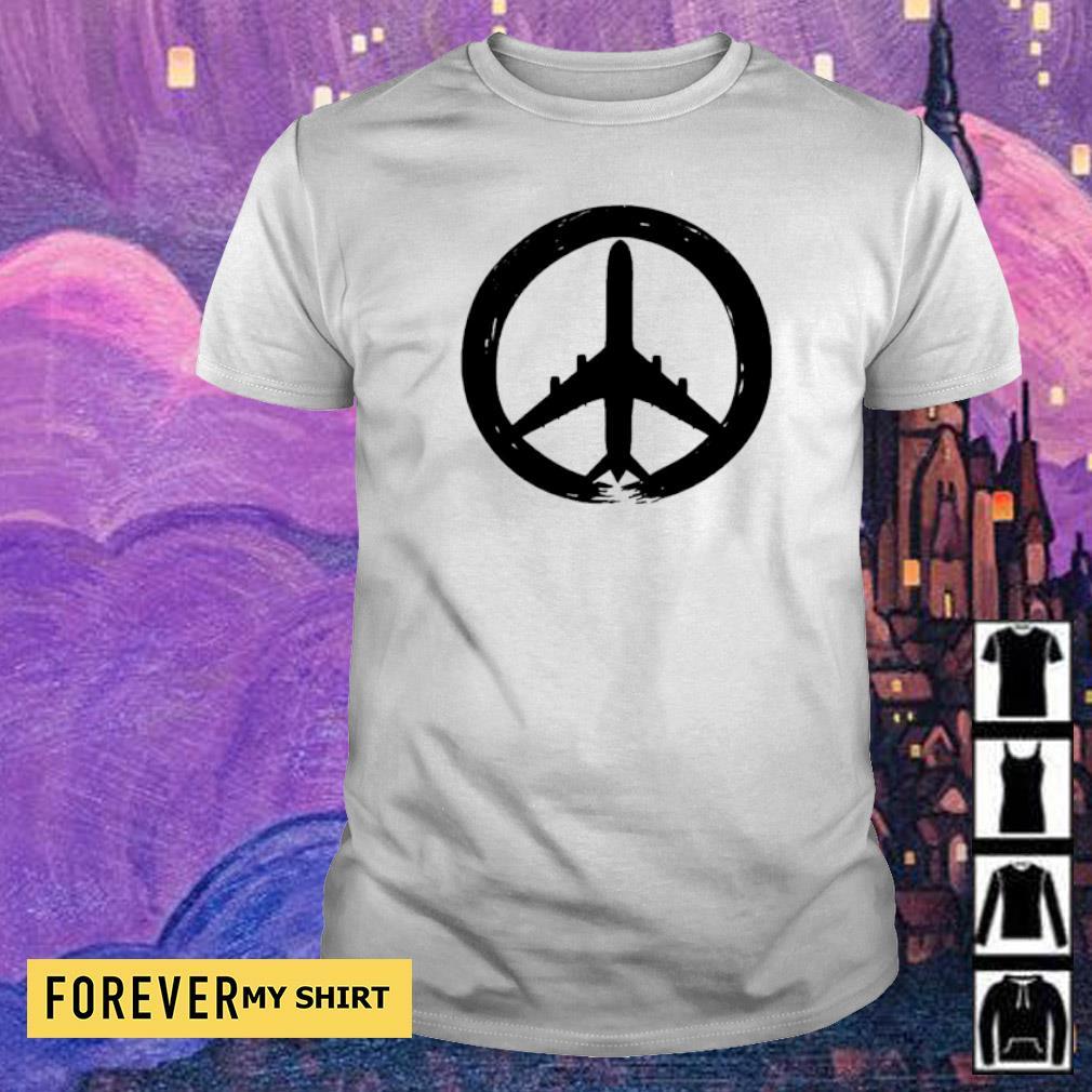 Awesome hippie logo plane shirt