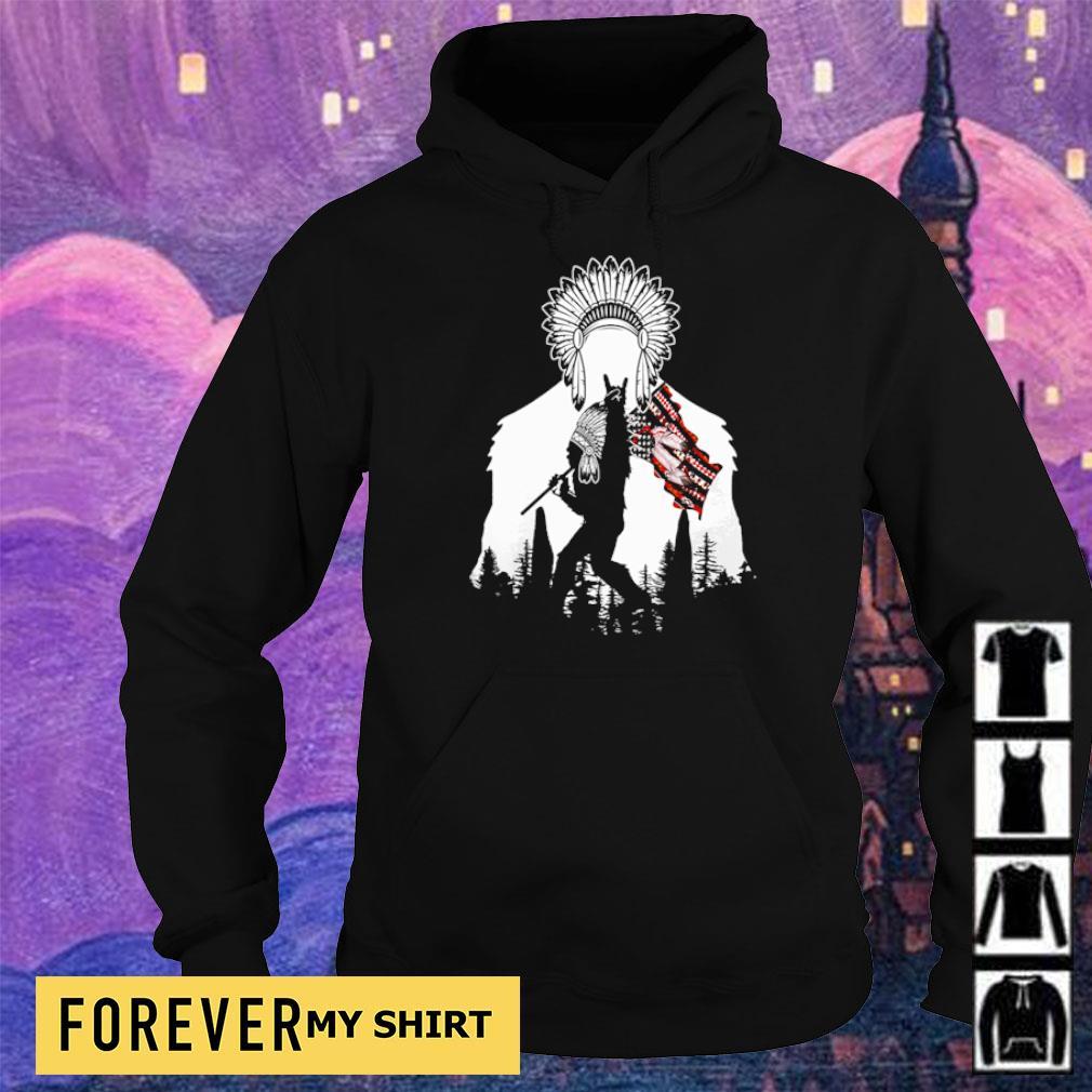 Bigfoot native American Flag s hoodie