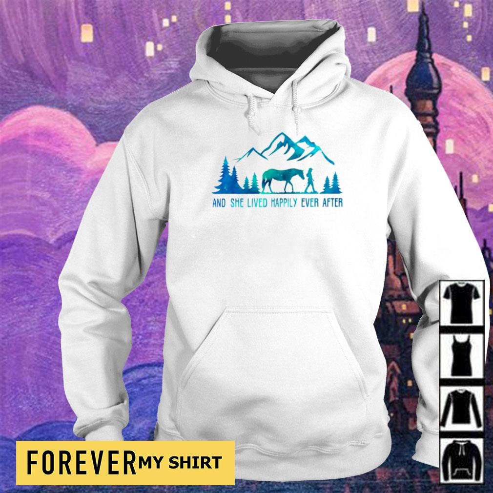 Camping and she lived happily ever after s hoodie