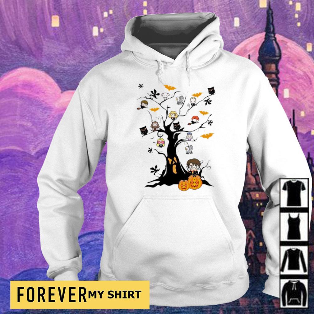 Chibi Harry Potter characters in Halloween tree s hoodie