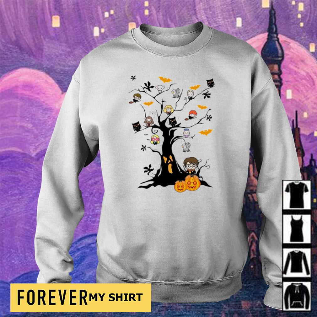 Chibi Harry Potter characters in Halloween tree s sweater