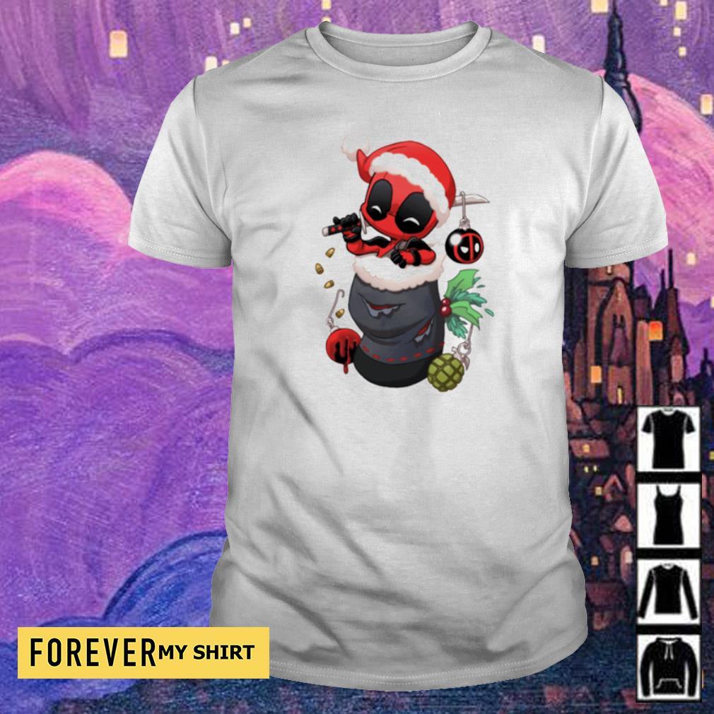 Christmas stocking stuffer Baby Deadpool shirt