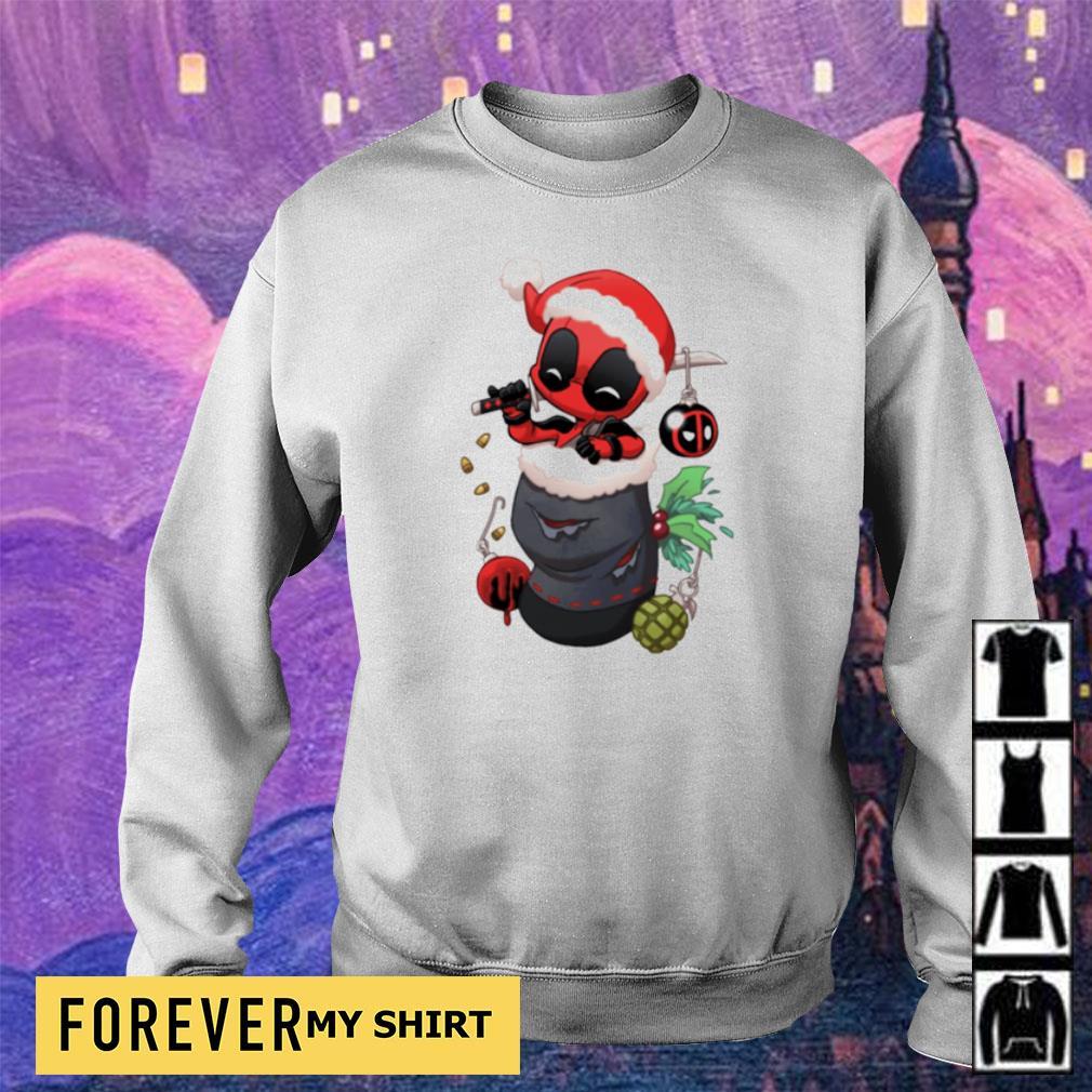 Christmas stocking stuffer Baby Deadpool s sweater