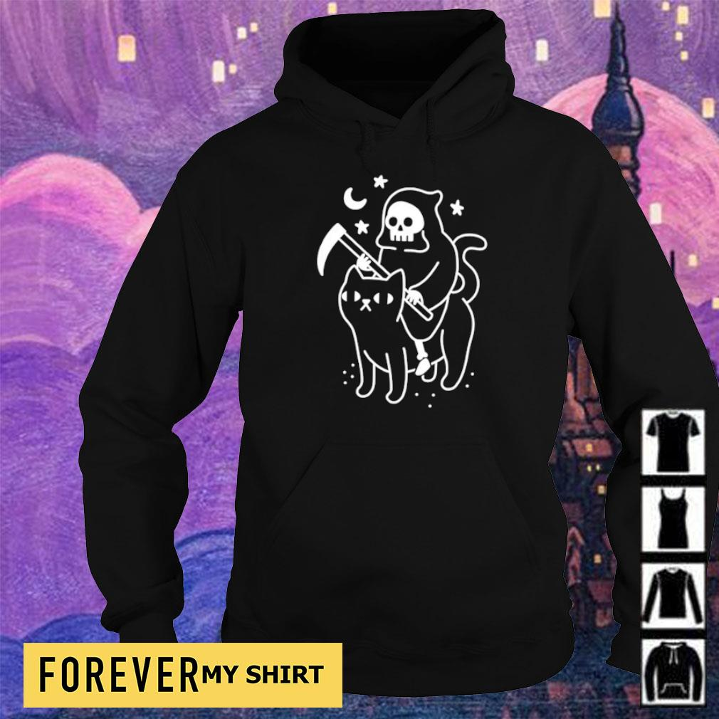 Death riding black cat s hoodie