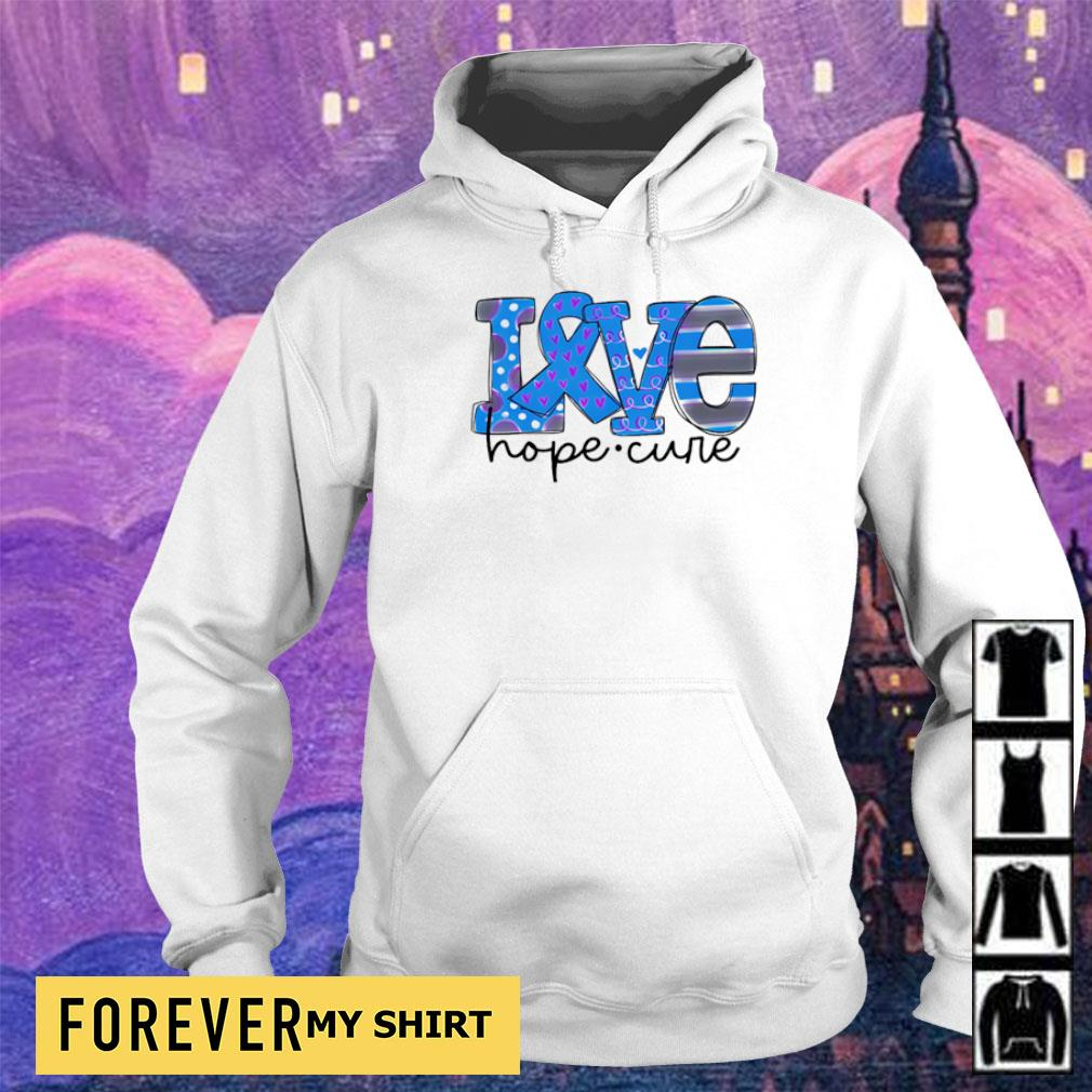 Diabetes love hope cure s hoodie