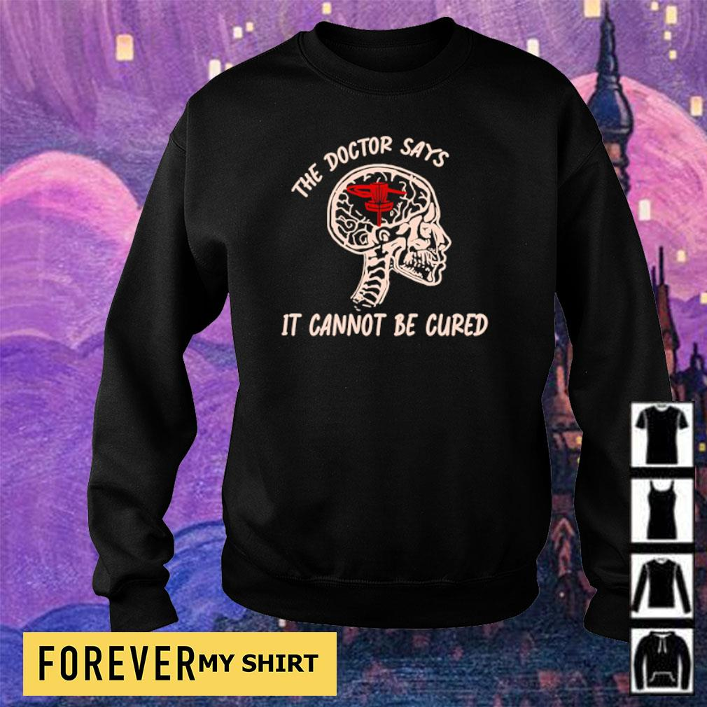 Disc golf the doctor says it cannot be cured s sweater