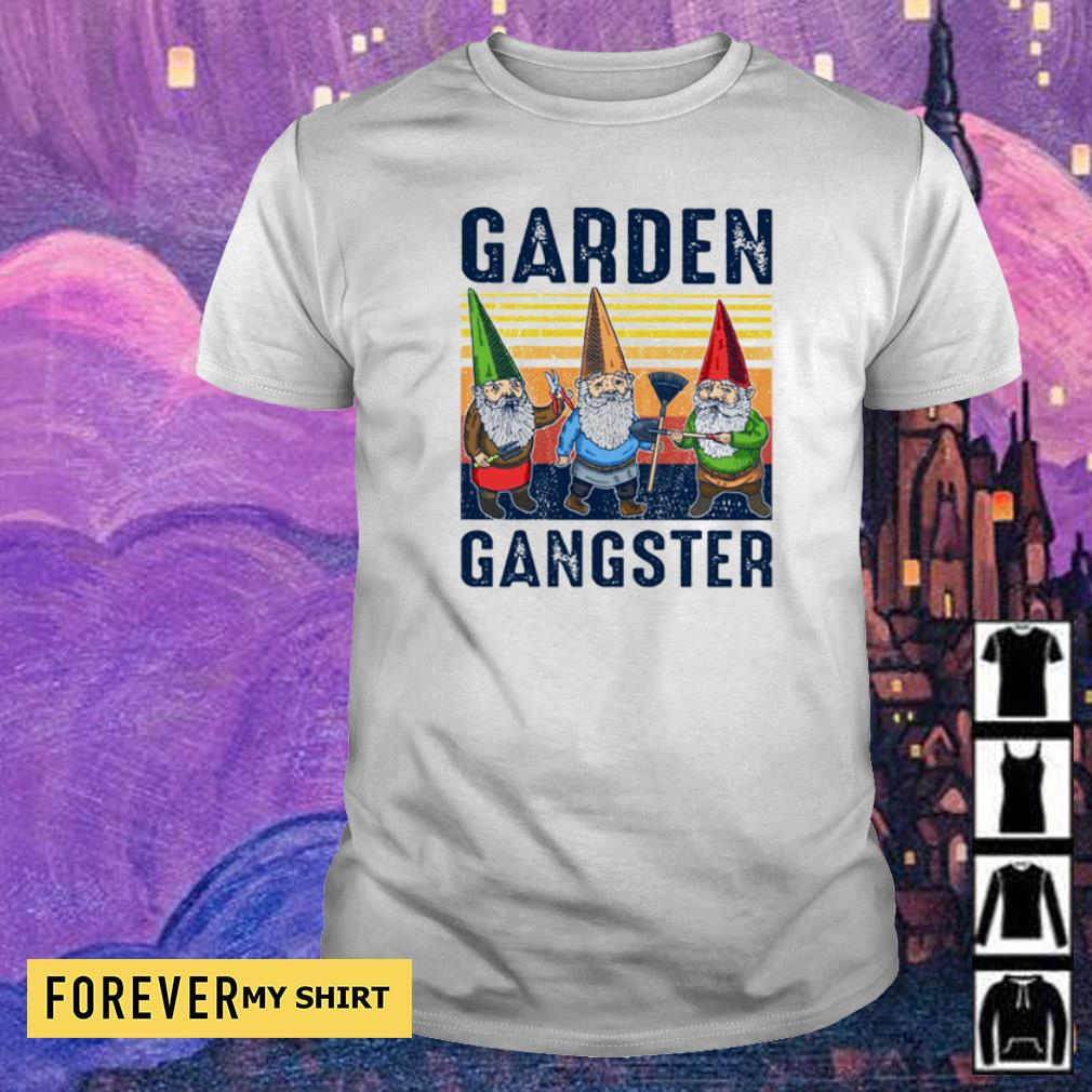 Gnomes garden gangster vintage shirt