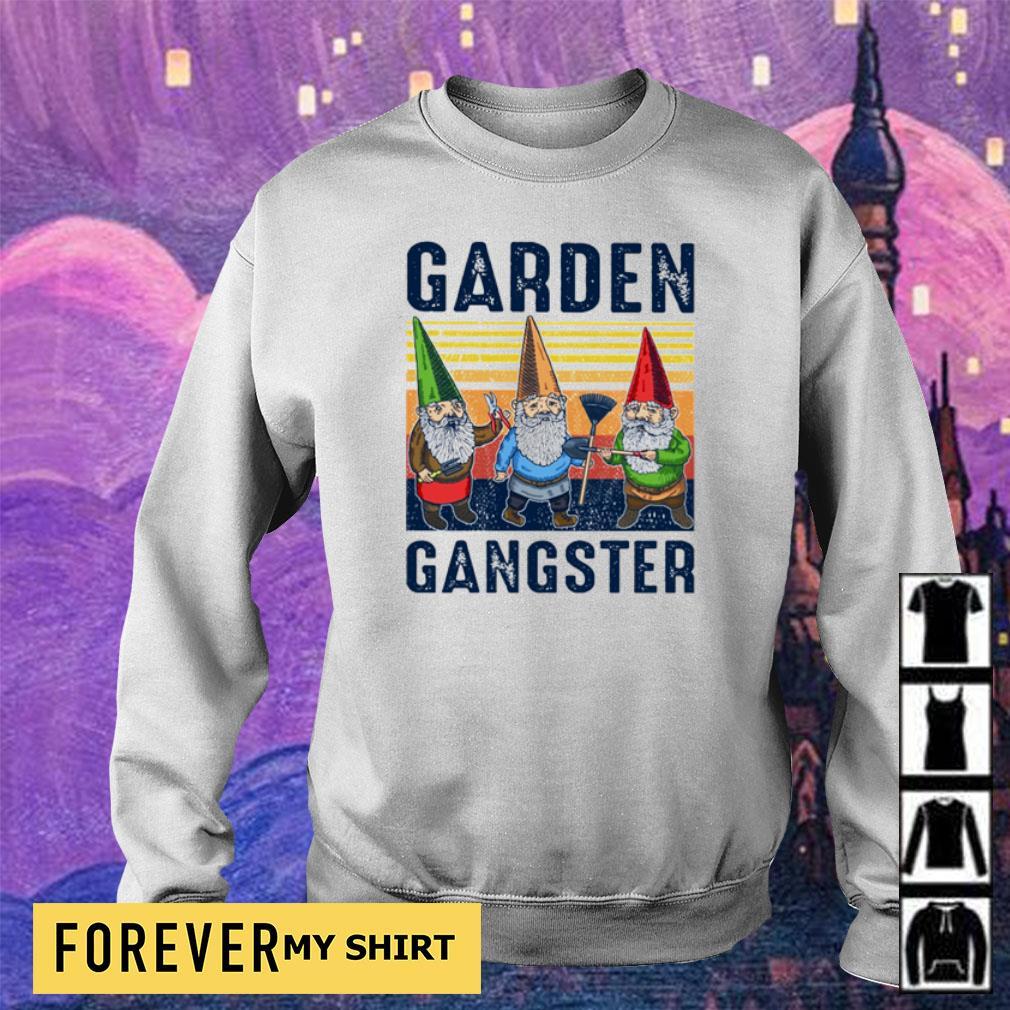 Gnomes garden gangster vintage s sweater