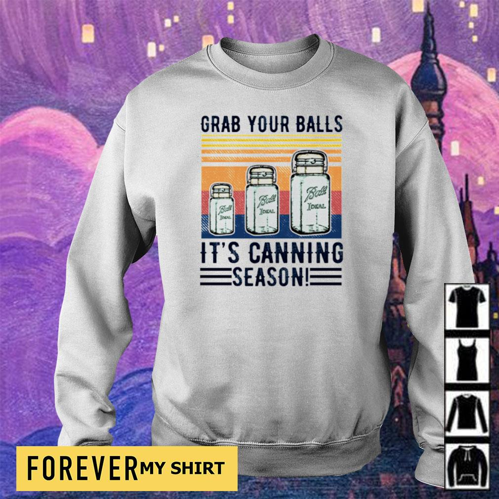 Grab your balls it's canning season vintage s sweater