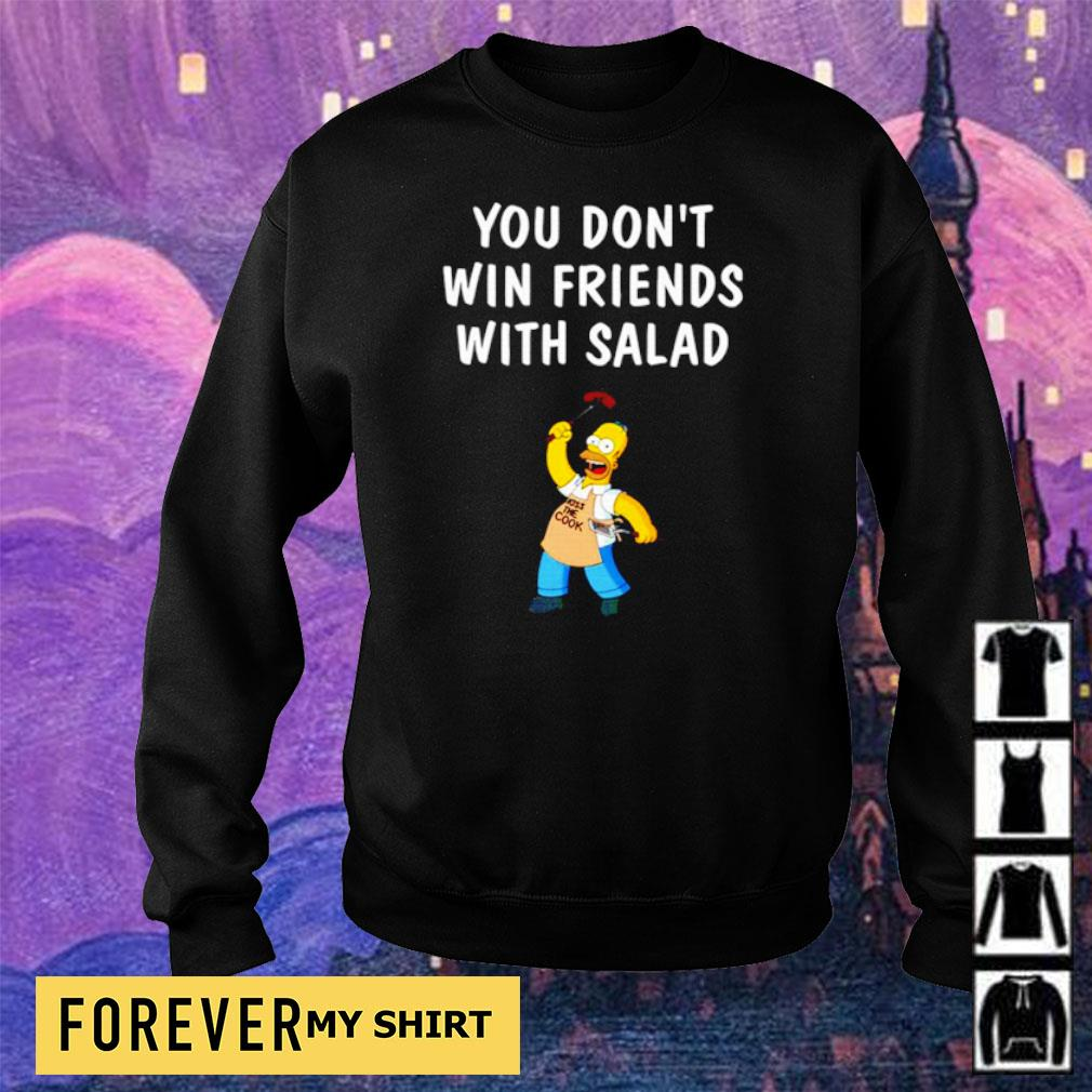 Homer Simpson you don't win friends with salad s sweater