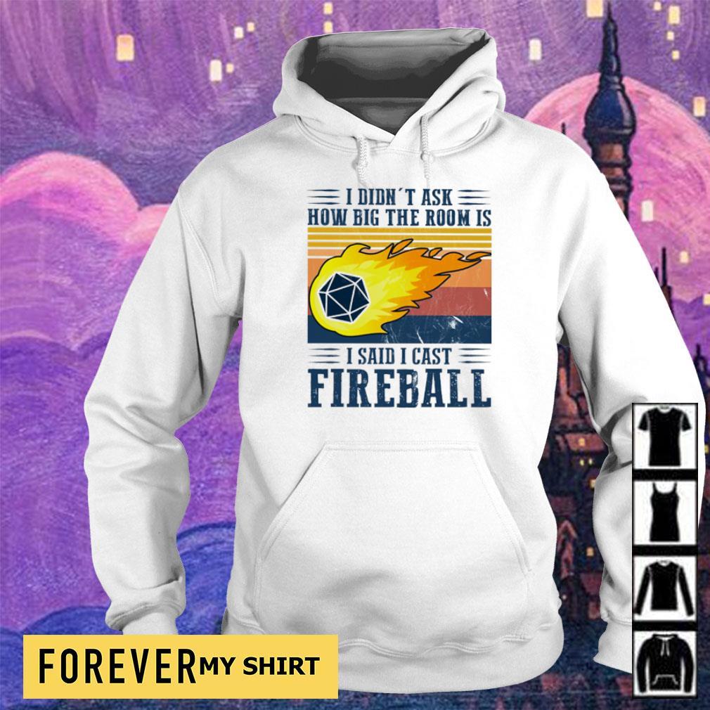 I didn't ask how big the room is I said I cast fireball s hoodie