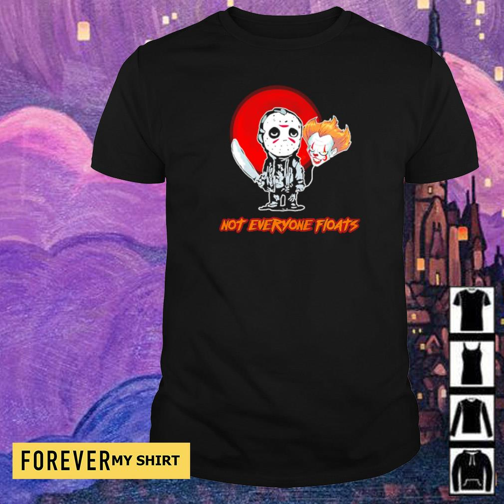 Jason Voorhees and Pennywise head balloon not everyone floats shirt