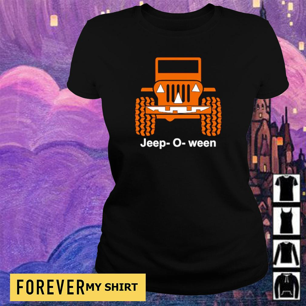 Jeep o ween pumpkin happy Halloween s ladies tee