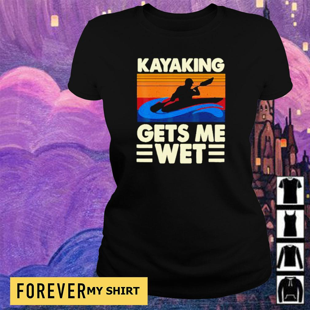Kayaking gets me wet vintage s ladies tee