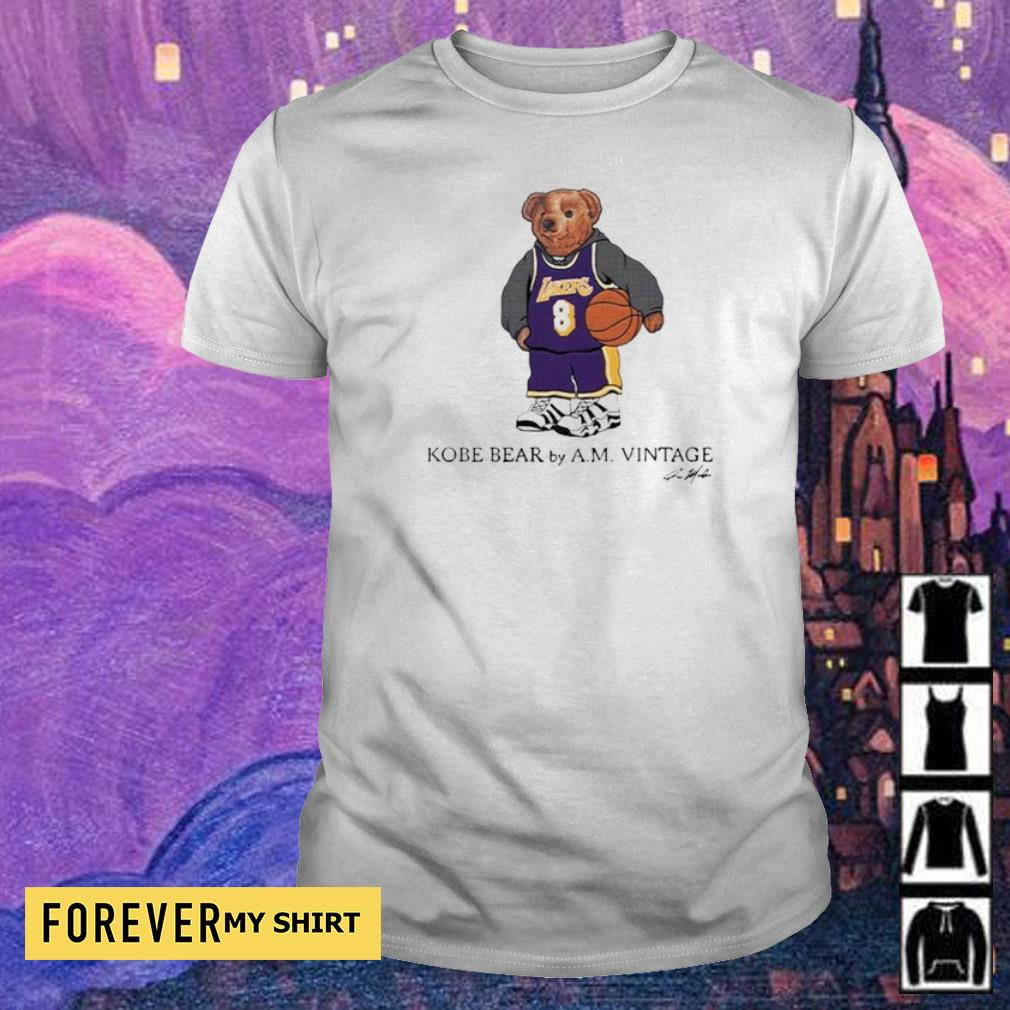 Kobe Bear by AM vintage signature shirt