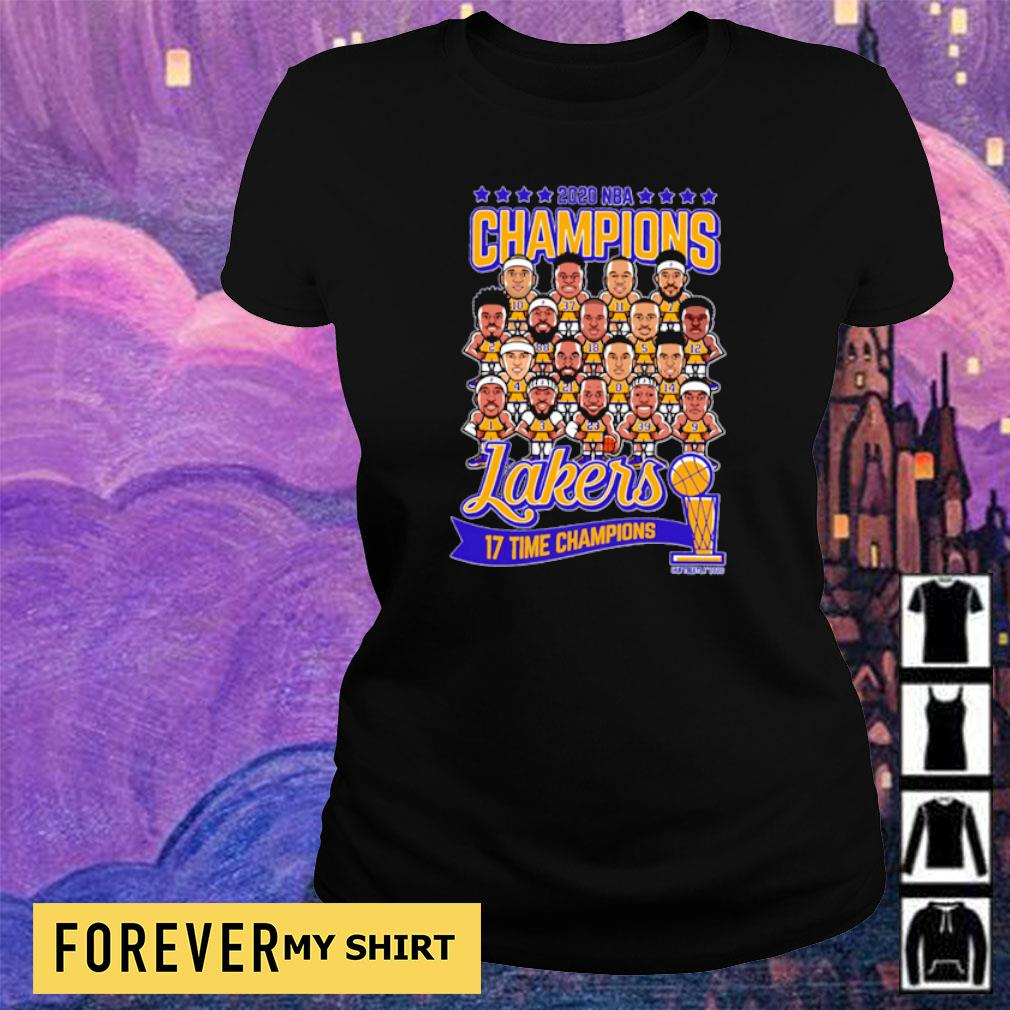 Los Angeles Lakers 2020 NBA 17 time champions champions ladies tee