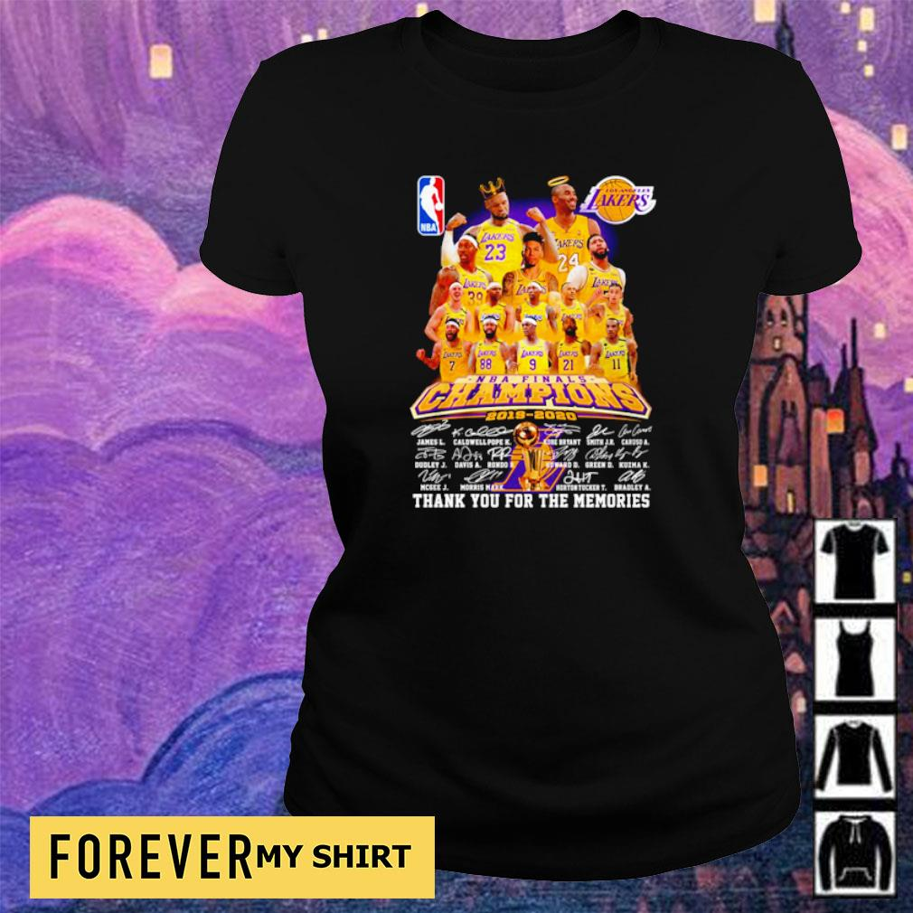 Los Angeles Lakers champions 2019 2020 thank you for the memories s ladies tee