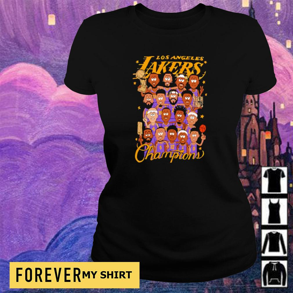 Los Angeles Lakers chibi players champions s ladies tee