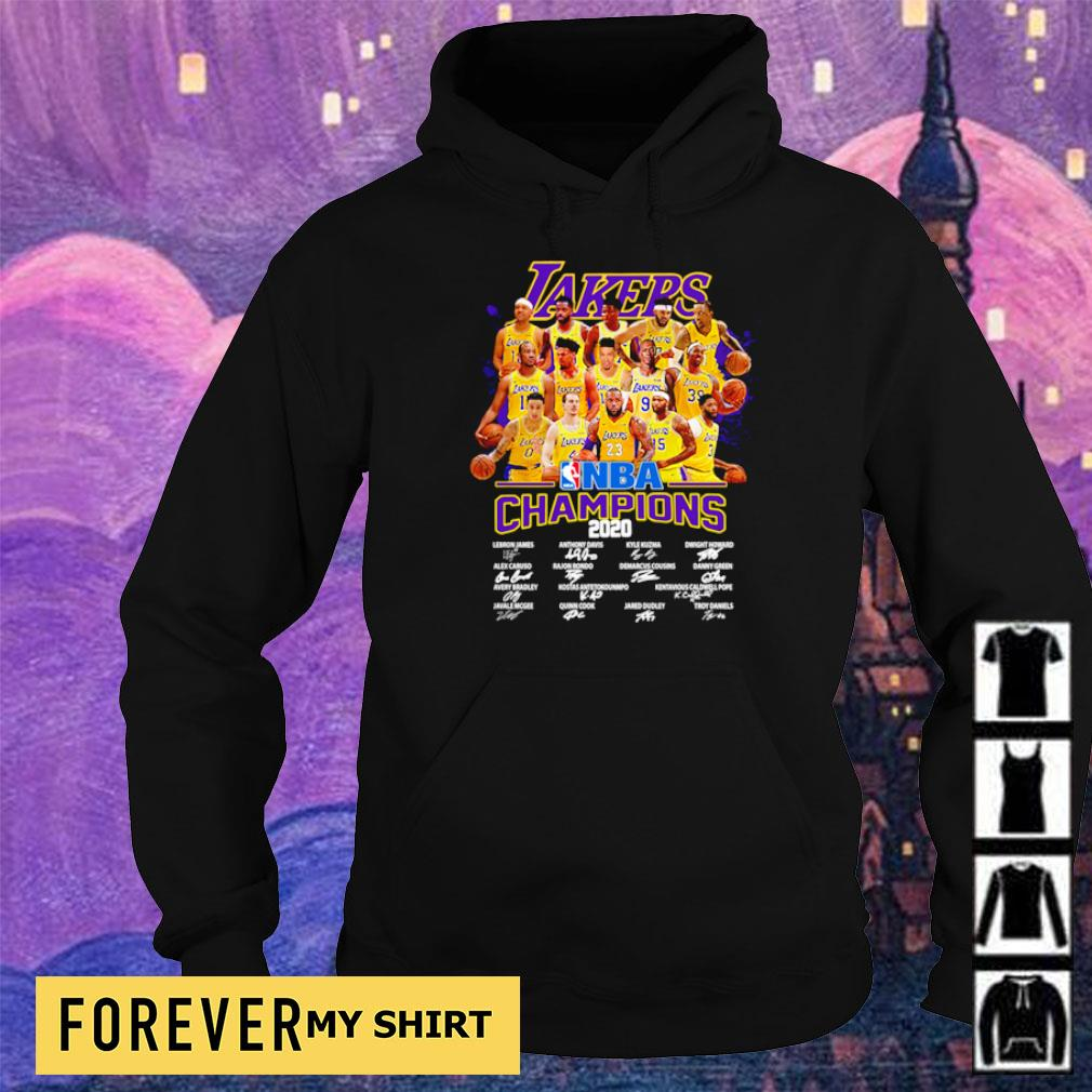 Los Angeles Lakers NBA champions 2020 player's signature s hoodie