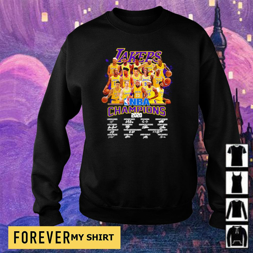 Los Angeles Lakers NBA champions 2020 player's signature s sweater