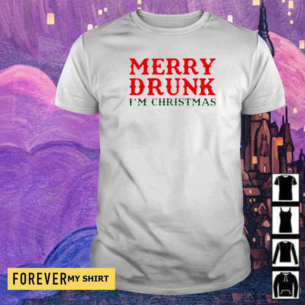 Merry drunk I'm Chirstmas shirt