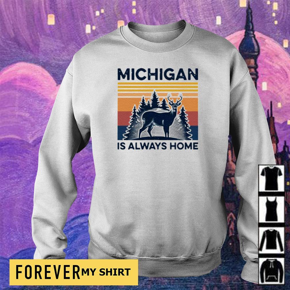 Michigan deer is always home vintage s sweater