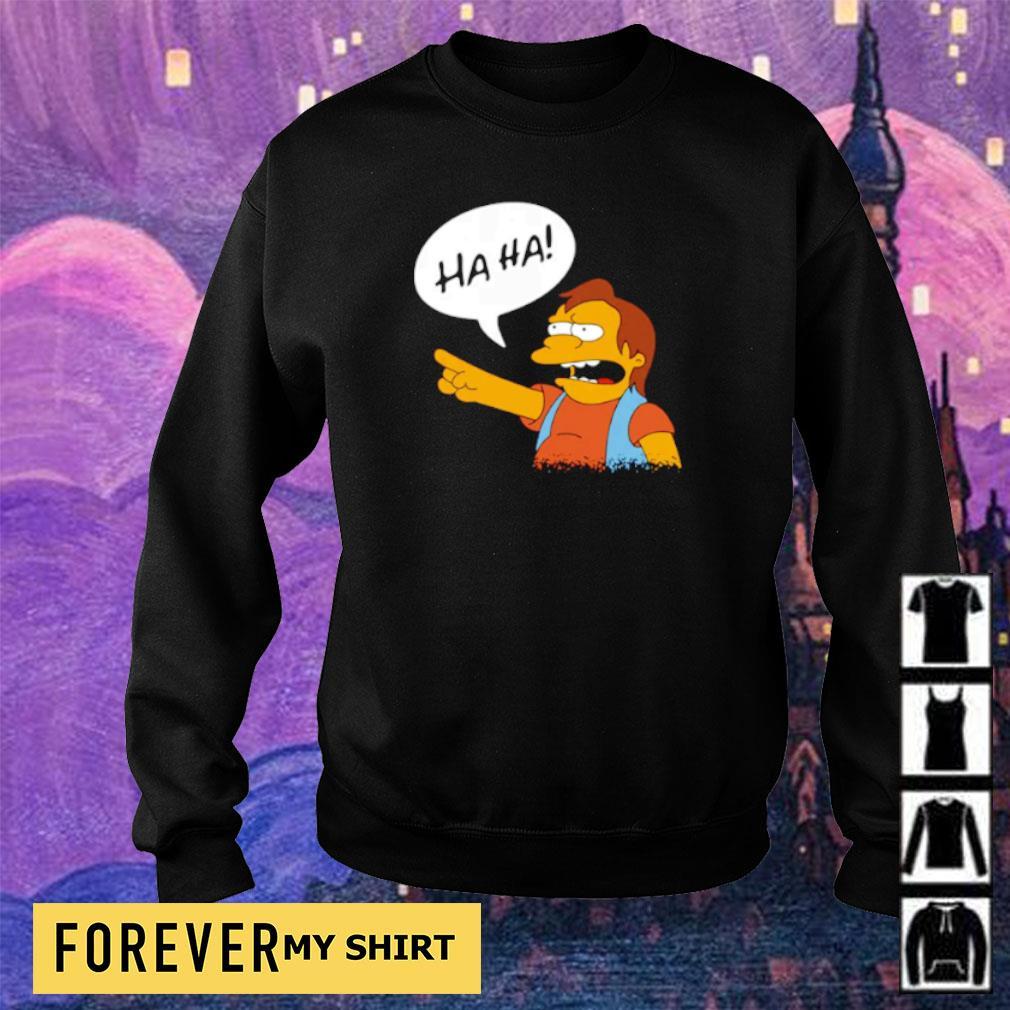 Nelson Muntz from The Simpsons ha ha s sweater