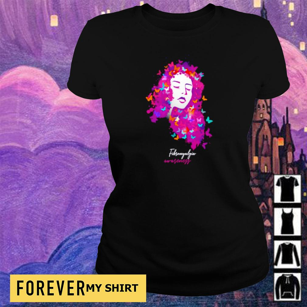 Official butterfly fibro awareness s ladies tee