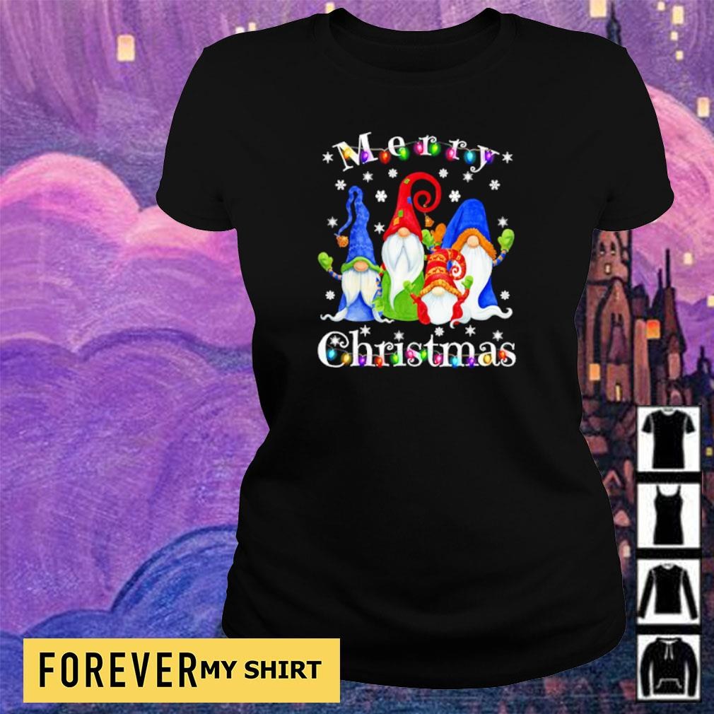 Official Gnome merry Christmas s ladies tee