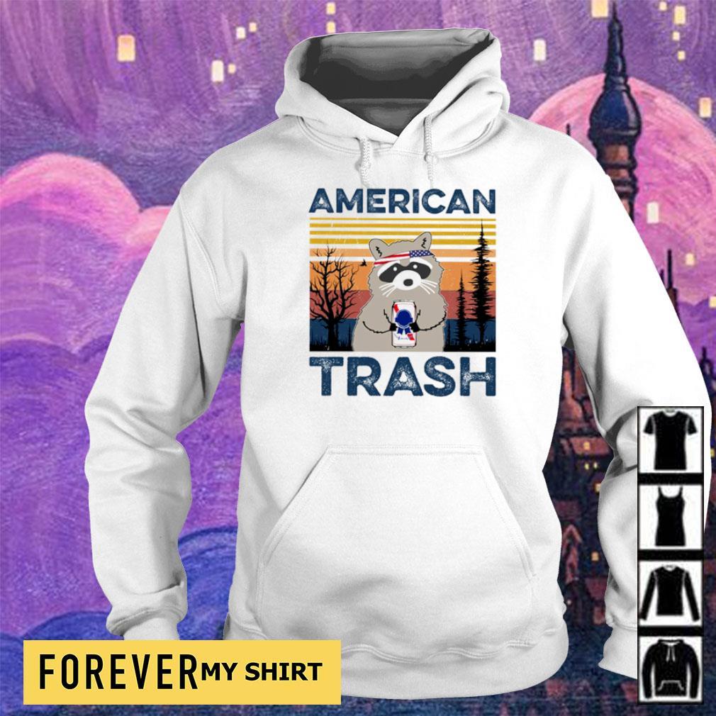 Raccoon Independence Day American trash vintage s hoodie
