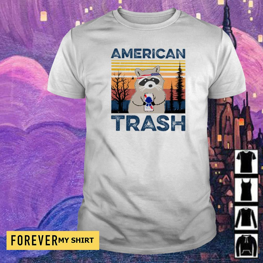 Raccoon Independence Day American trash vintage shirt