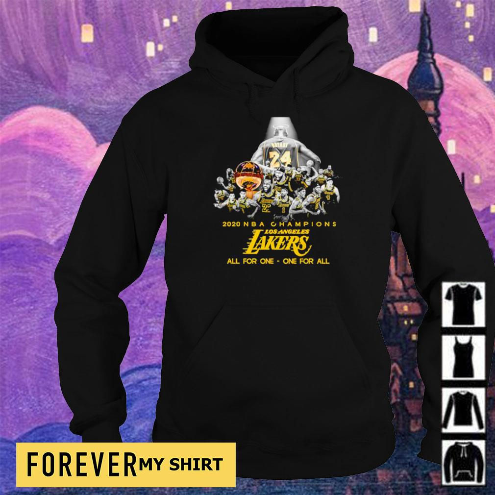RIP Kobe Bryant 2020 NBA champions Los Angeles Lakers all for one one for all s hoodie