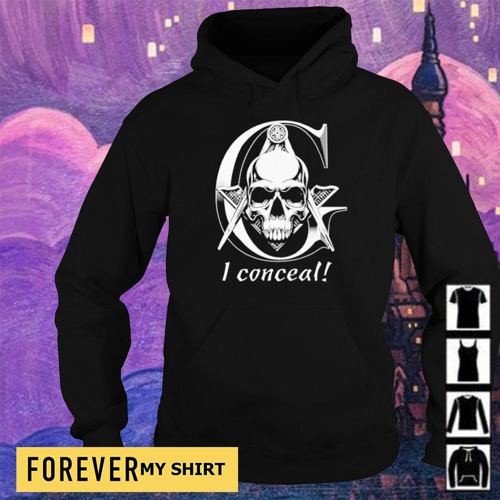 Scary skull I conceal s hoodie