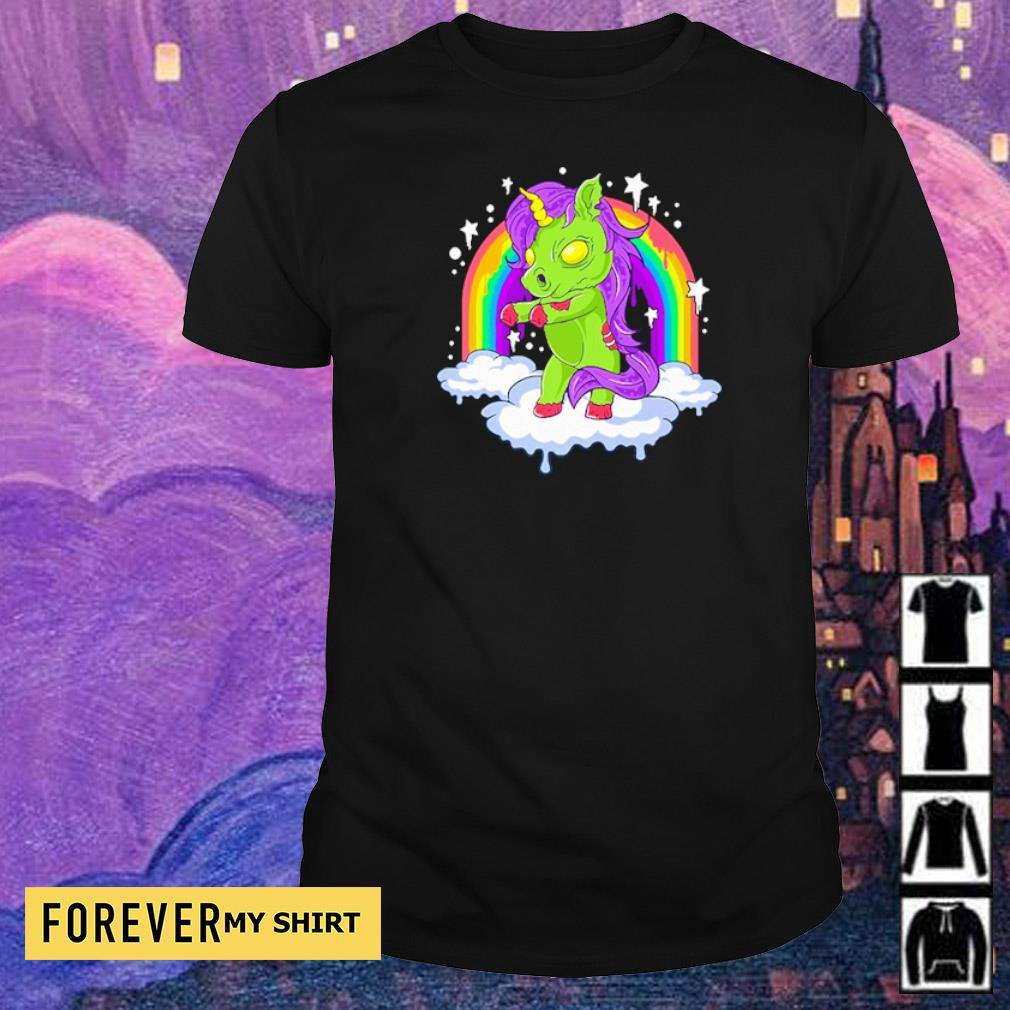 Unicorn zombie zombicorn Halloween shirt