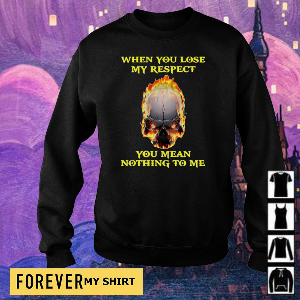 When you lose my respect you mean nothing to me s sweater