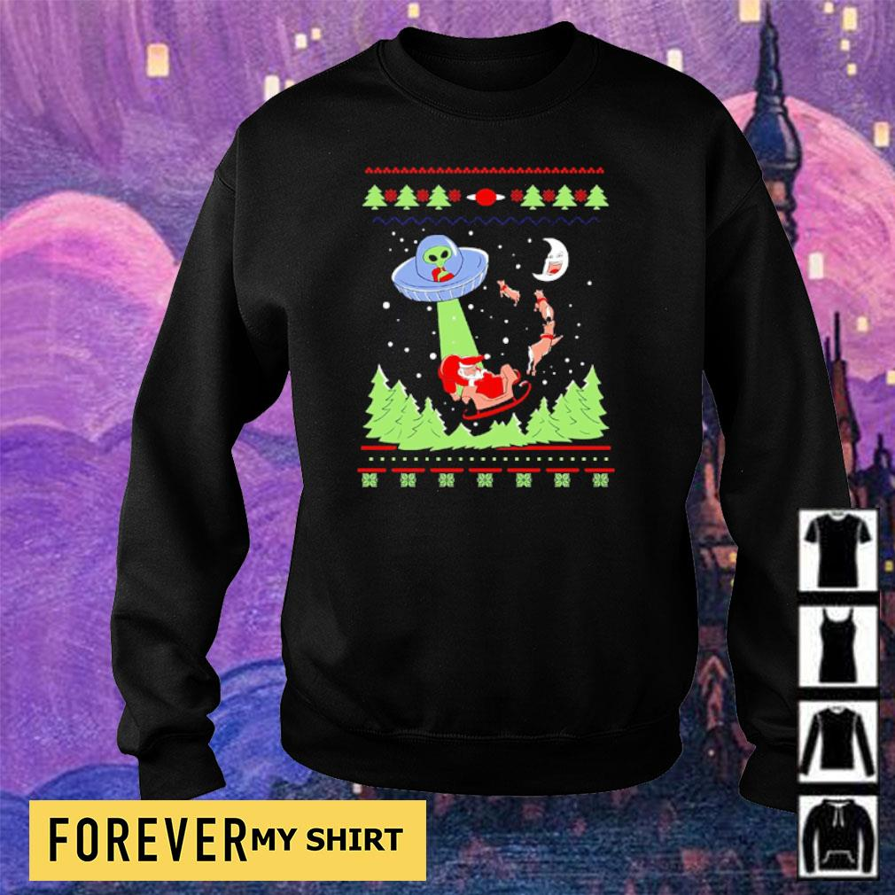 Alien invasion and Santa Claus merry Christmas sweater