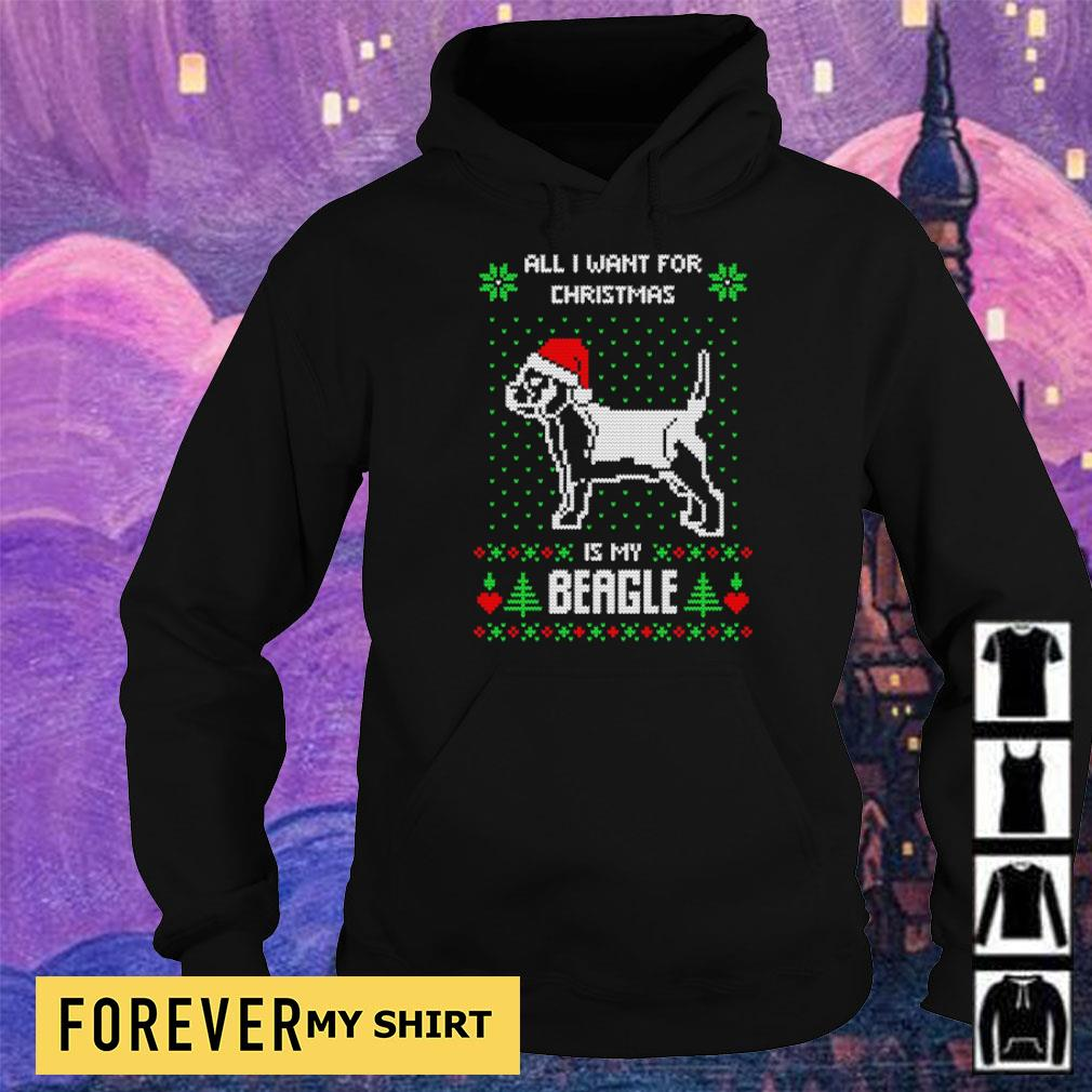 All I want for Christmas is my Beagle sweater hoodie