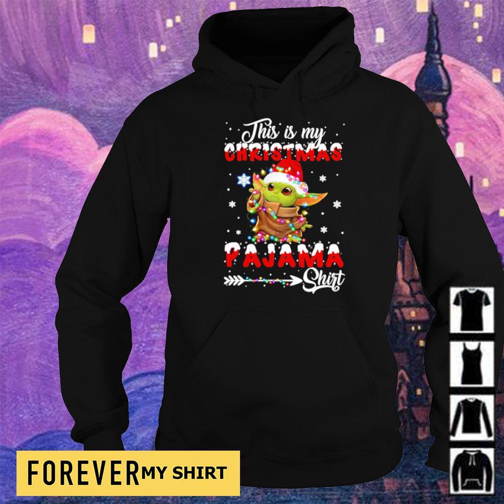 Baby Yoda this is my Christmas pajama sweater hoodie