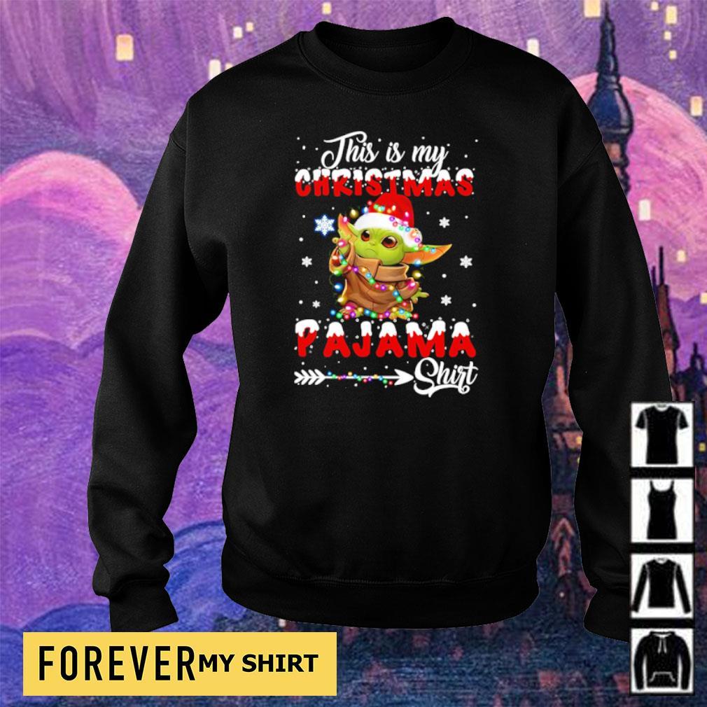 Baby Yoda this is my Christmas pajama sweater