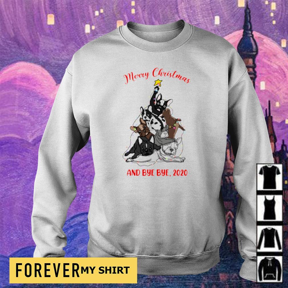 Bulldog as Christmas tree merry Christmas and bye bye 2020 s sweater