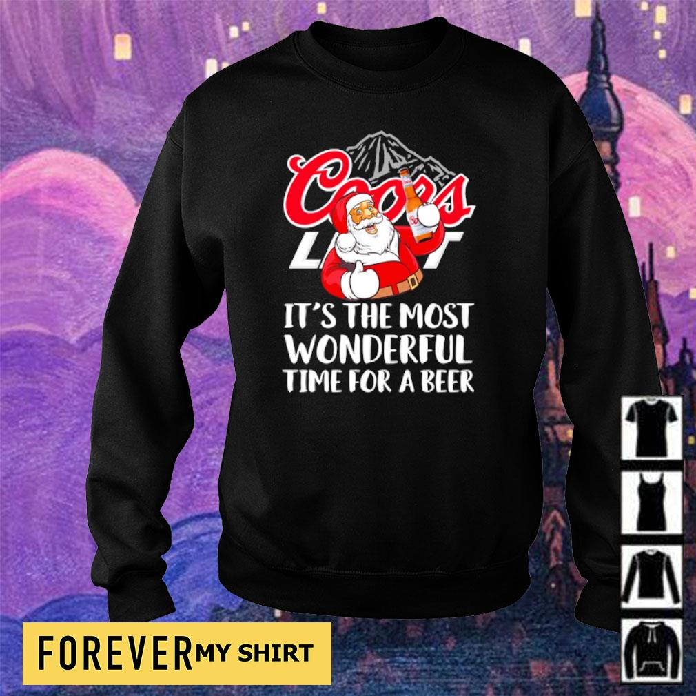 Coors Light it's the most wonderful time for a beer s sweater