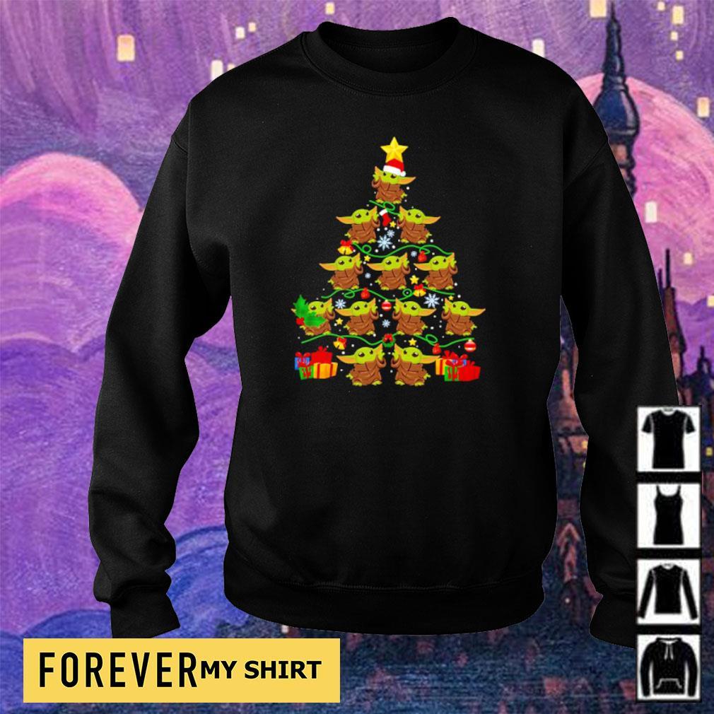 Cute baby Yoda tree merry Christmas sweater