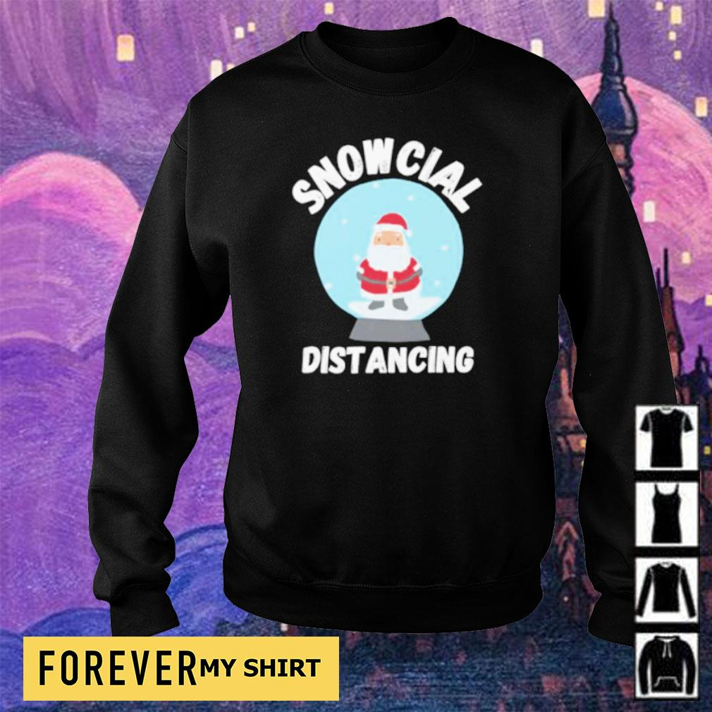 Cute Santa Claus snowcial distancing Christmas sweater