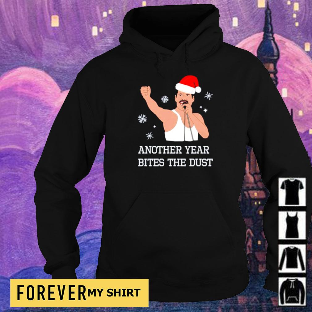 Freddie Mercury another year bites the dust hapyy Christmas sweater hoodie
