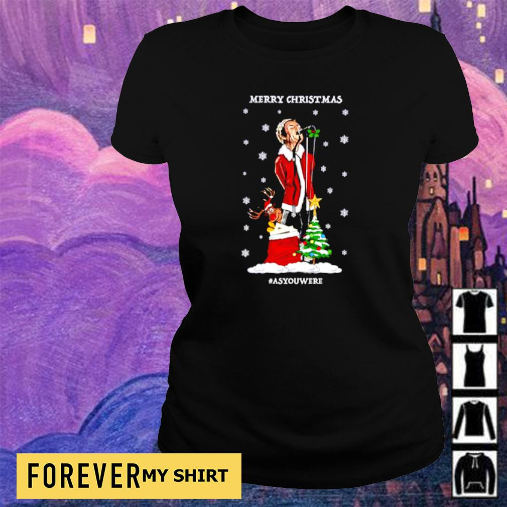 Liam Gallagher merry Christmas as you were sweater ladies tee